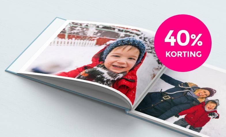 40% korting op fotoalbums actie