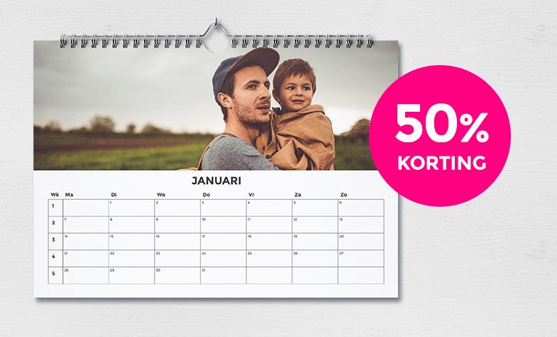 50% korting op alle kalenders