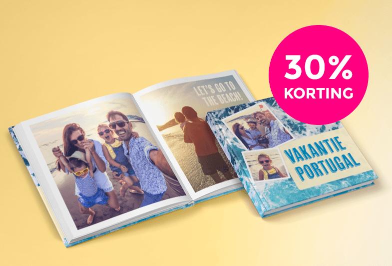 30% korting op alle vierkante fotoalbums